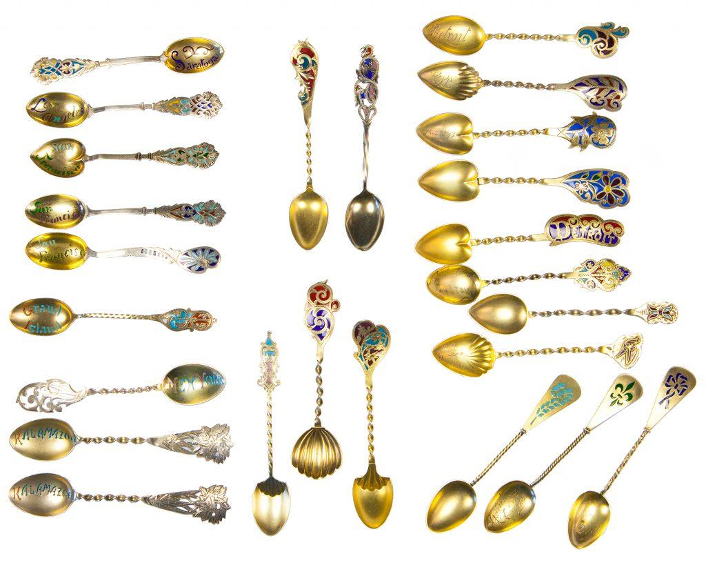 United States Plique a Jour Handmade Spoons