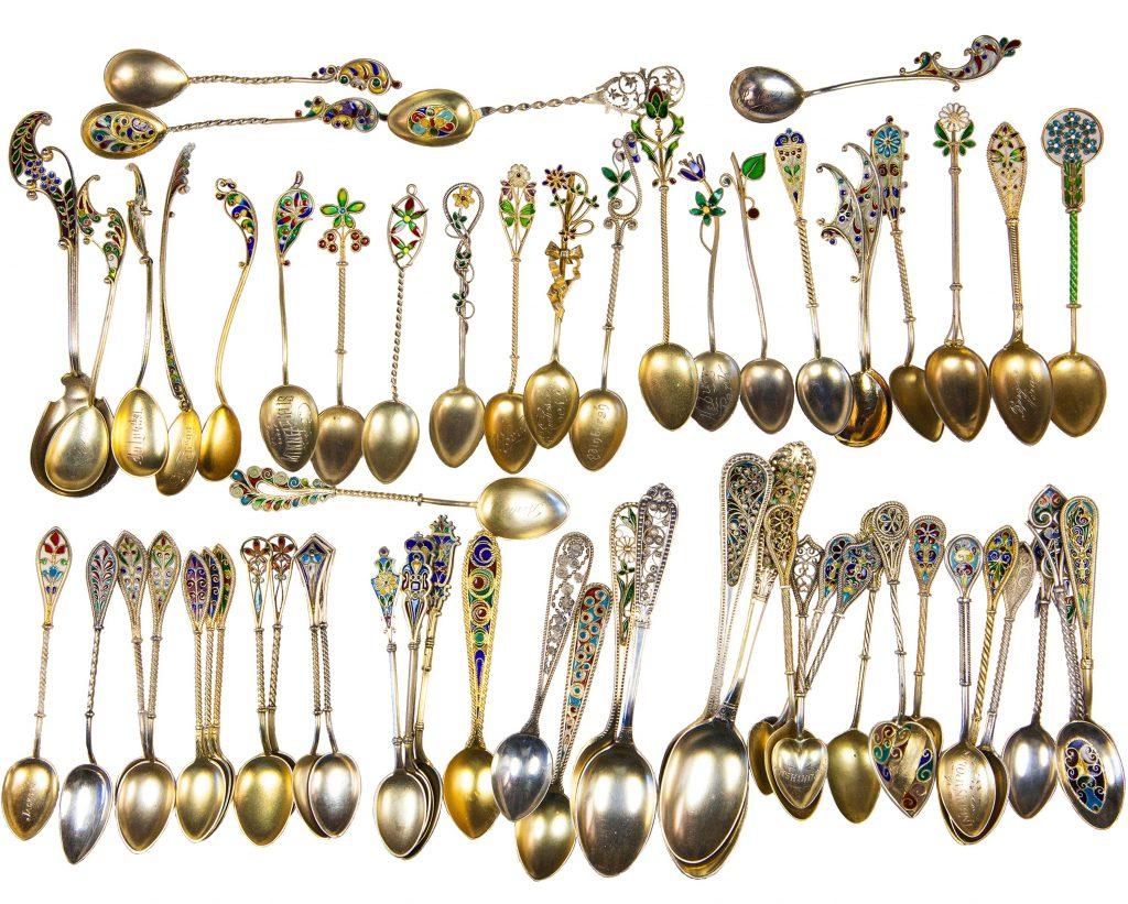 Typical Demitasse Plique-à-Jour Spoons