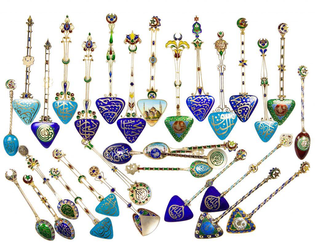 Georg Adam Scheid's Calligraphic Plique Spoons